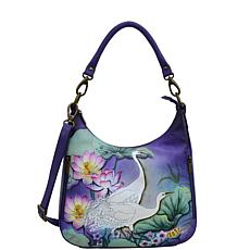 Anuschka Hand Painted Leather Convertible Slim Hobo