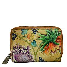 Anuschka Hand Painted Leather Credit and Business Card Holder