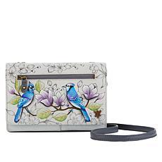 Anuschka Hand-Painted Leather Crossbody Organizer Wallet