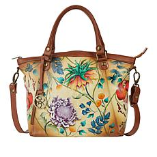 Anuschka Hand Painted Leather Double-Handle Tote