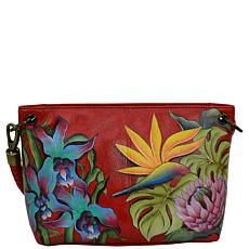 Anuschka Hand Painted Leather Medium Shopper with Braided Handle