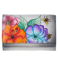 Anuschka Hand-Painted Leather Organizer Wallet