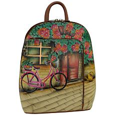 Anuschka Hand Painted Leather Sling-Over Travel Backpack