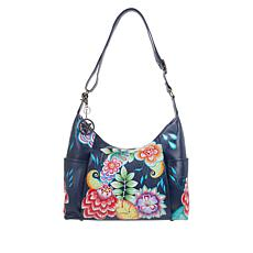 Anuschka Hand-Painted Leather Zip-Front Hobo