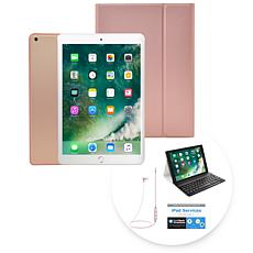 "Apple 2018 iPad® 9.7"" 32GB Tablet w/Keyboard Case and Wireless Earbuds"