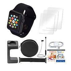 Apple 38mm Series 1 Sport Watch w/Extra Band & Bluetooth Earbuds