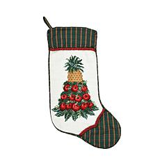 Apple Cone Needlepoint  Stocking