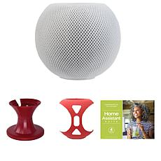 Apple HomePod Mini Bundle with Cover, Stand and Voucher - White