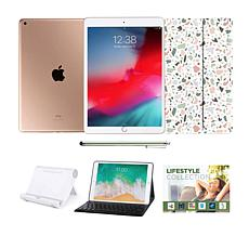"""Apple iPad 10.2"""" 32GB in Gold with Keyboard and Voucher"""