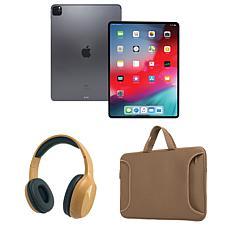 "Apple iPad Pro 12.9"" 128GB Wifi w/Bluetooth Headphones & Carry Case"