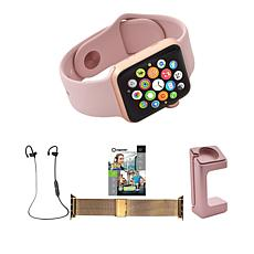 Apple® Series 3 38mm Water-Resistant Watch w/Extra Band & Headphones