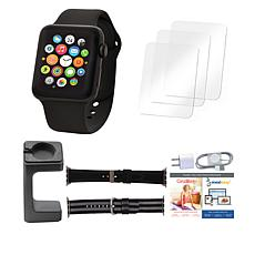 Apple® Series 3 42mm Sport Watch with Extra Bands and Stand - Black