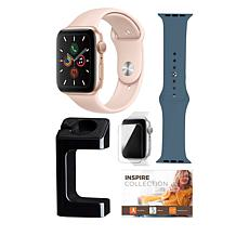 Apple Watch Series 5 44mm with GPS and Watch Stand Bundle