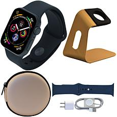 Apple Watch Series 5 44mm with Tough Case, Sport Band and Stand