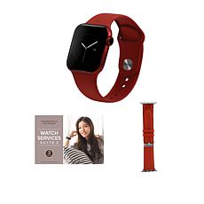 Apple Watch Series 6 40mm Red with GPS and Leather Band