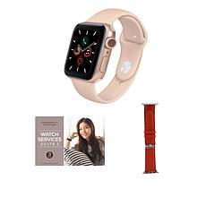 Apple Watch Series 6 40mm Rose Gold with GPS and Leather Band