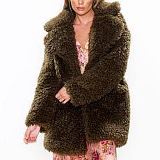 Aratta Fayre Fur Coat - Brown