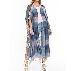 Aratta Fields of Happiness Kimono - Turquoise Lila Combo