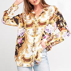 Aratta Ivory and Black Gianni Shirt