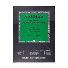 """Arches Watercolor Pad - 9""""x12"""" Cold Pressed 140 lb."""
