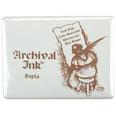 "Archival Inkpad #3 Jumbo - 5"" x 6-1/2"" Sepia"