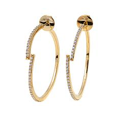 Argent by Paige Cara Reversible Hoop Earrings