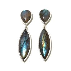 Argento Vivo Labradorite Sterling Silver Drop Earrings