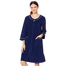 Aria Whisper Soft Solid Terry Zip Robe