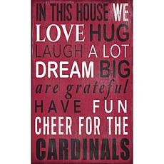 Arizona Cardinals In This House Sign