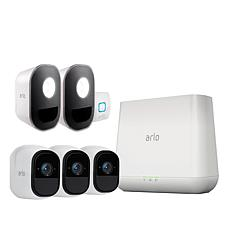 Arlo Pro 3-pack Camera Security System w/ 2-pack Arlo Security Lights