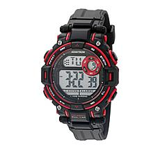 Armitron Men's Black/Red Digital Chronograph Sport Watch