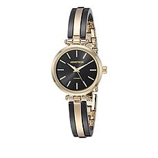 Armitron Women's Black Resin and Goldtone Bangle Watch