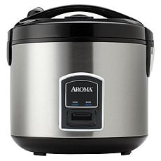 Aroma 20-Cup Cool-Touch Rice Cooker and Food Steamer, Stainless Steel