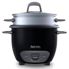 Aroma ARC-743-1NGB 6-Cup Pot Style Rice Cooker - Black