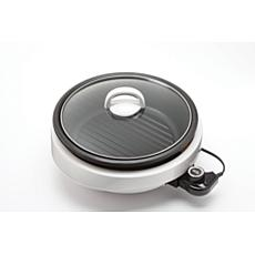 Aroma ASP-137 3-Qt. 3-in-1 Grillet - White
