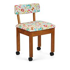 Arrow Sewing Chair with Seat Storage - Oak/White