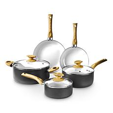 Art and Cook Ceramic-Coated 8-piece Cookware Set