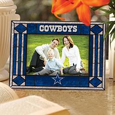 Art Glass Horizontal Picture Frame - Dallas Cowboys