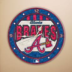 Art Glass Wall Clock - Atlanta Braves