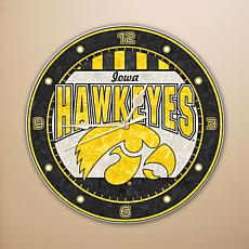 Art Glass Wall Clock - University of Iowa