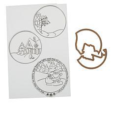 Art Impressions Circlet TryFold Christmas Stamps/Dies by Bonnie Krebs