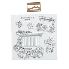 Art Impressions Mini TryFold 9-piece Produce Stand Stamp & Die Set