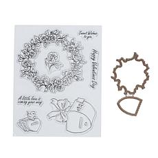 Art Impressions Mini TryFold Sweet Wishes 9-piece Stamp and Die Set