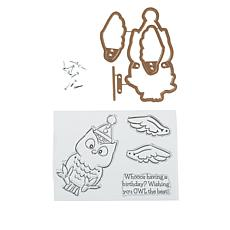 Art Impressions Owl Flutter Stamp and Die Set