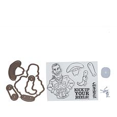 Art Impressions Wiggle Wobble Cowboy 11-piece Stamp and Die Set