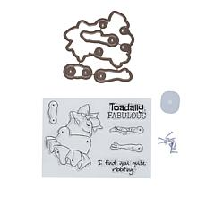 Art Impressions Wiggle Wobble Toad 11-piece Stamp and Die Set