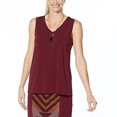 """""""As Is"""" Antthony Holiday Luxe Easy V-Neck Tank"""