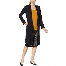 """""""As Is"""" Antthony Holiday Luxe Ponte Knit Duster Cardigan"""