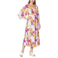 """As Is"" Antthony Kimono-Sleeve Maxi Dress"