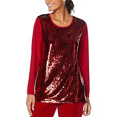 """As Is"" Antthony ""Ready, Set, 60!"" Sequined Tunic"